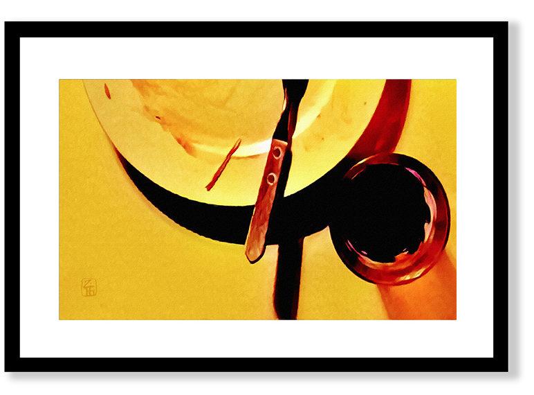 40x30 cm, glasram med svart (alt. vit) trälist. Innermått passepartout ca 30x20 cm. Grafiskt blad (ännu ej signerat) Giclée Fine Art Technique på bestruket akvarellpapper, av konstnären Zigge Holmgren. Begränsad upplaga.
